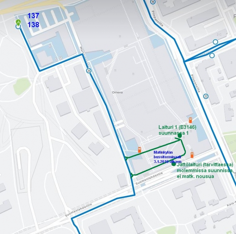 Changes to neighborhood routes 137, 138 and 148 in Espoo from 3 January | HSL