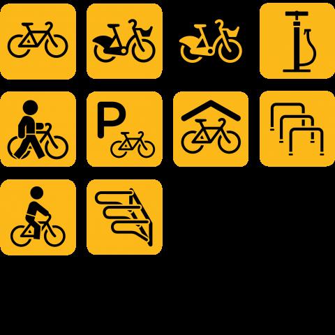 Pyöräily piktogrammit