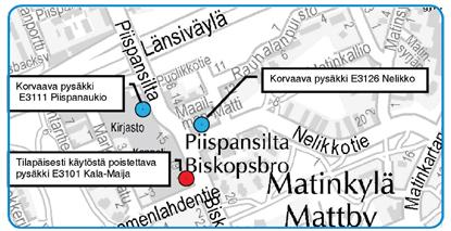 Pysäkki Kala-Maija pois käytöstä 15.2.2015