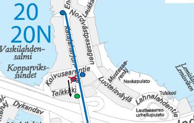 Koivusaarentie-pysäkin tilapäinen siirto 16.2.2015