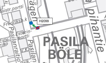 Pysäkki 2099 Maistraatinportti siirretään Pasilankadulle 9.7.2015