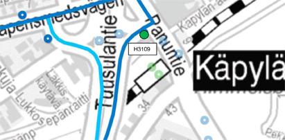 Käpylässä pysäkki 3109 Panuntie otettu käyttöön 13.10.2015