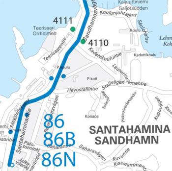 Santahaminaan uudet pysäkit 27.1.2015