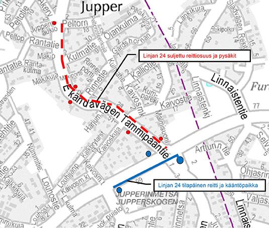 Bussin 24 päätepysäkki Jupperissa 18.7. - 1.8.2016