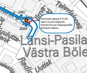 Ilmalantorin pysäkkimuutos 27.11.-27.12.