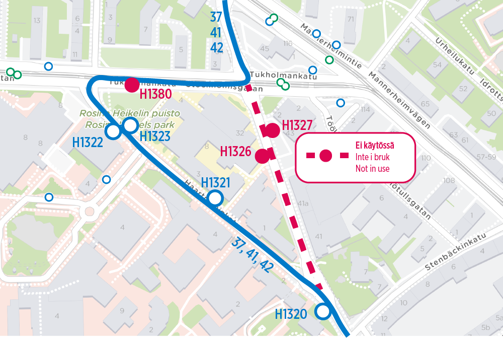 Bus routes 37, 41 and 42 in Meilahti at night 10-14 June | HSL on route 22 map, route 17 map, route 33 map, route 2 map, route 12 map, route 5 map, route 18 map, route 101 map, route 6 map, route 1 map, route 23 map, route 70 map, route 30 map, route 91 map, route 53 map, route 20 map, route 202 map, route 50 map, route 60 map, route 90 map,