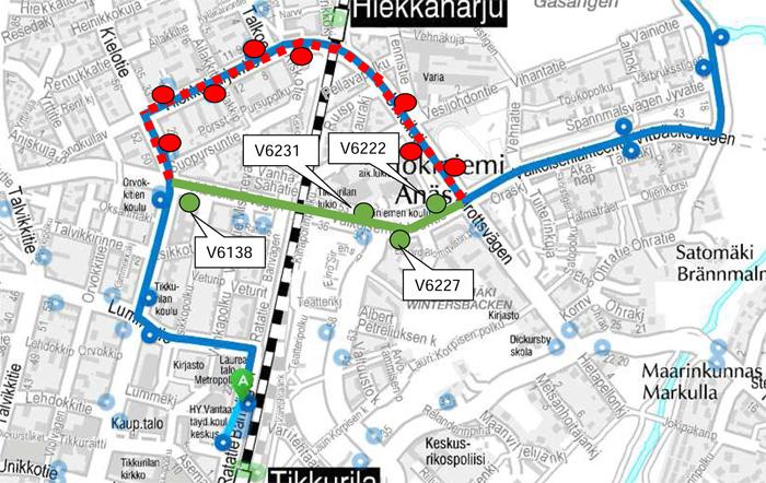 Bussi 735 poikkeusreitillä 21. - 23.7.2016