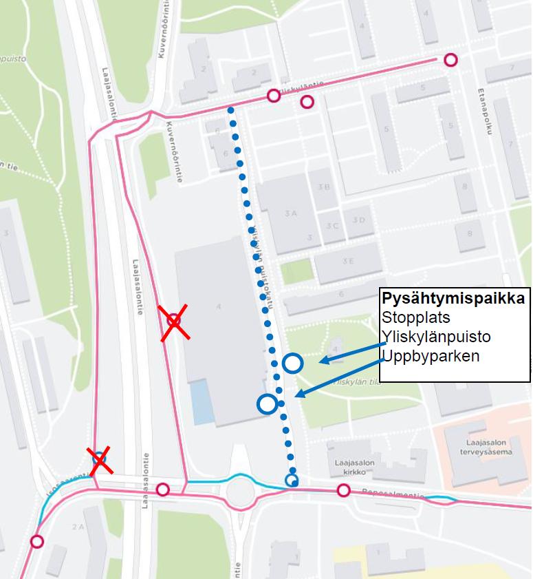 Linja 802 reittimuutos Yliskylä