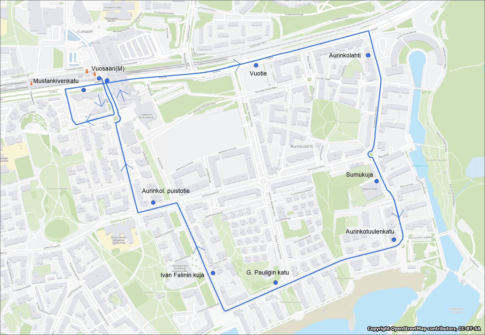 Linjalla 90X lisäliikennettä lauantaina 30.11. Vuosaaren metroaseman ja Aurinkolahden välillä klo 11.30-17.30