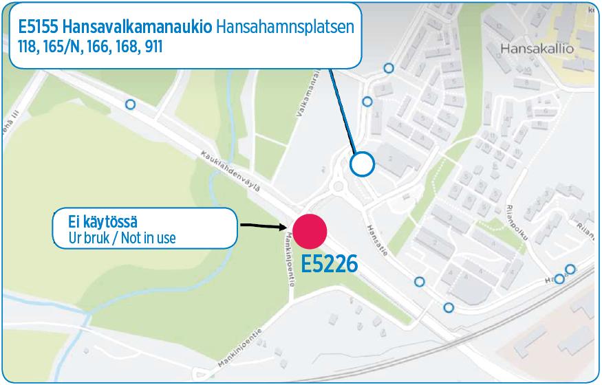 E5226 Hansavalkama suljetaan 9.11.