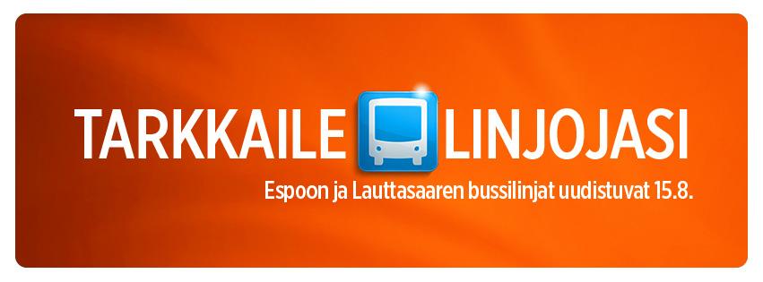 Bussilinjasto uudistuu 15.8.
