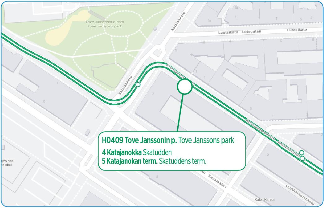 H0409 Tove Janssonin puisto otetaan käyttöön 2.10. alkaen