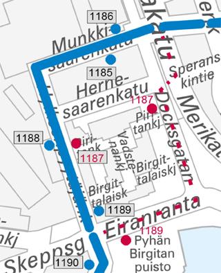Linja 14 palaa Hylkeenpyytäjänkadulle 28.9.2015