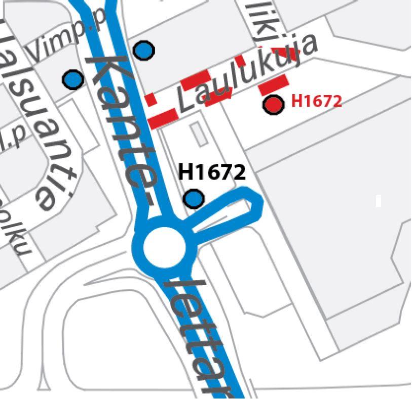 Pysäkki H1672 Pelikuja siirtyy perjantaina 15.3. Prisman pääoven lähistölle. Mikäli