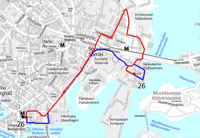 New Neighborhood Route 26 Between Hakaniemi And Kalasatama From 11