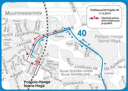Linjan H40 poikkeureitti 11.5.2014