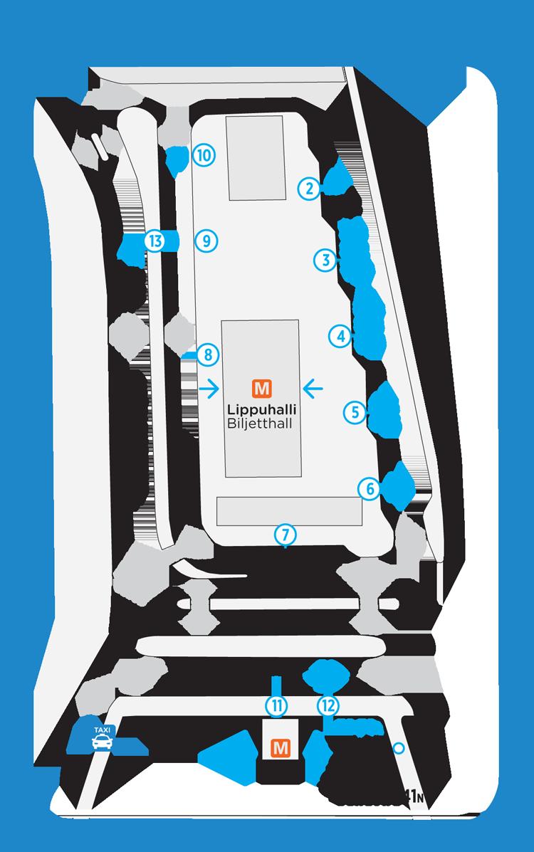 Herttoniemen bussien lähtölaiturit 15.8.2016 alkaen
