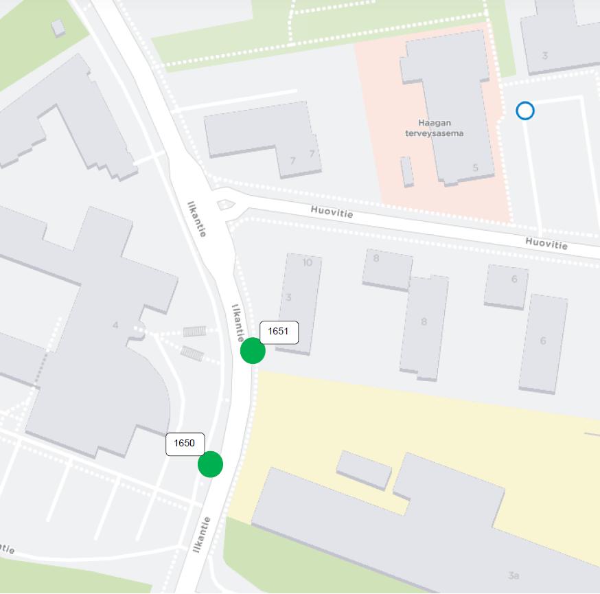 """Pysäkit """"Haagan ammattikoulu"""" (H1650/1651) otetaan käyttöön keskiviikkona 5.12.."""