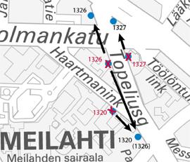 Topeliuksenkadun ja Haartmaninkadun pysäkit edelleen poikkeusreitillä maaliskuuhun 2015
