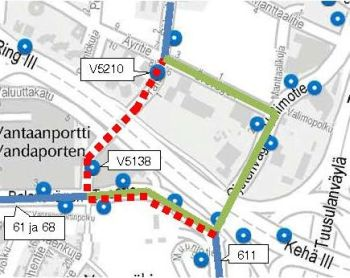 Bus Routes 61 68 And 611 Diverted In Vantaa At Night 30 31
