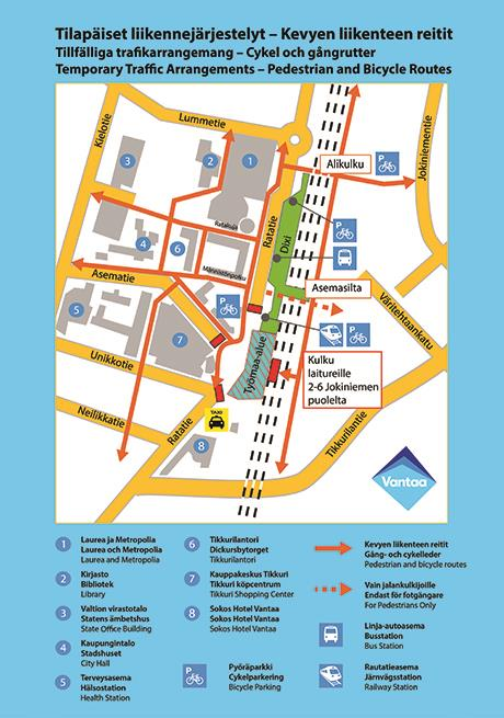 Changes To Traffic Arrangements In Tikkurila From 1 June Hsl