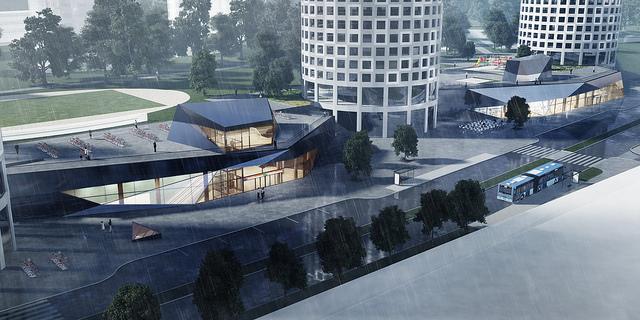 Keilaniemen aseman ympäristöön rakennetaan uusia toimistotorneja