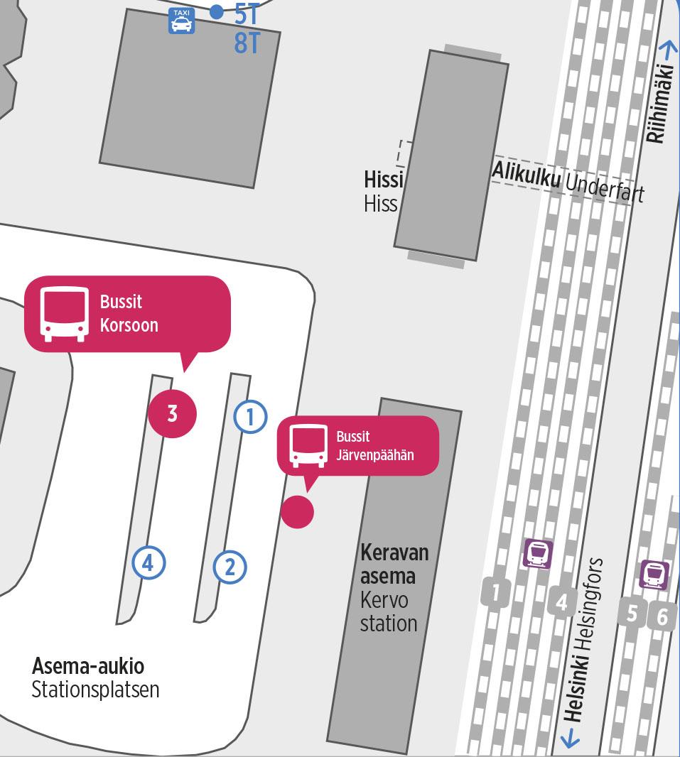 Bussit korvaavat junia kahtena yönä 22.-24.3. välillä Korso–Järvenpää   HSL