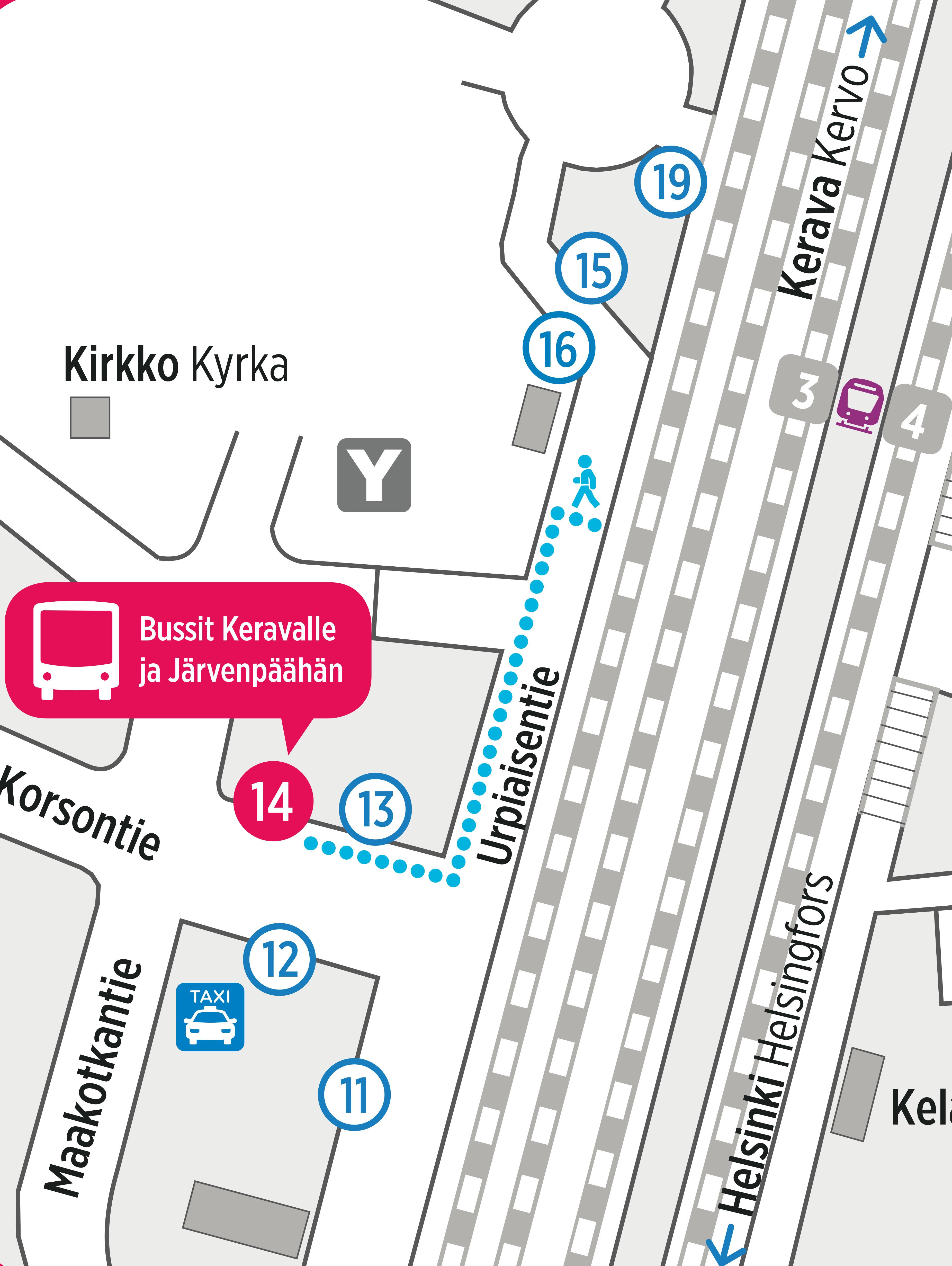 Bussit korvaavat junia keskiviikon ja torstain välisenä yönä välillä Korso–Järvenpää   HSL