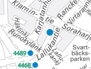 Lallukantien uudet pysäkit 1.1.2014
