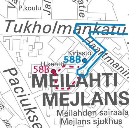 Meilahden 58B järjestelyt
