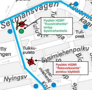paloheinä kartta Changes to bus stops in Paloheinä from 10am on 29 April | HSL paloheinä kartta
