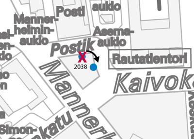 Postitalon pysäkin siirto 16.7.2014