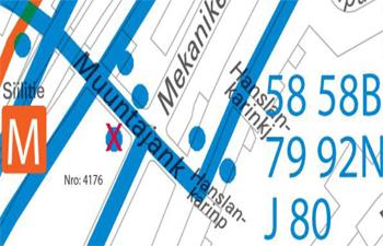 Poistuva pysäkki 4176 kartalla