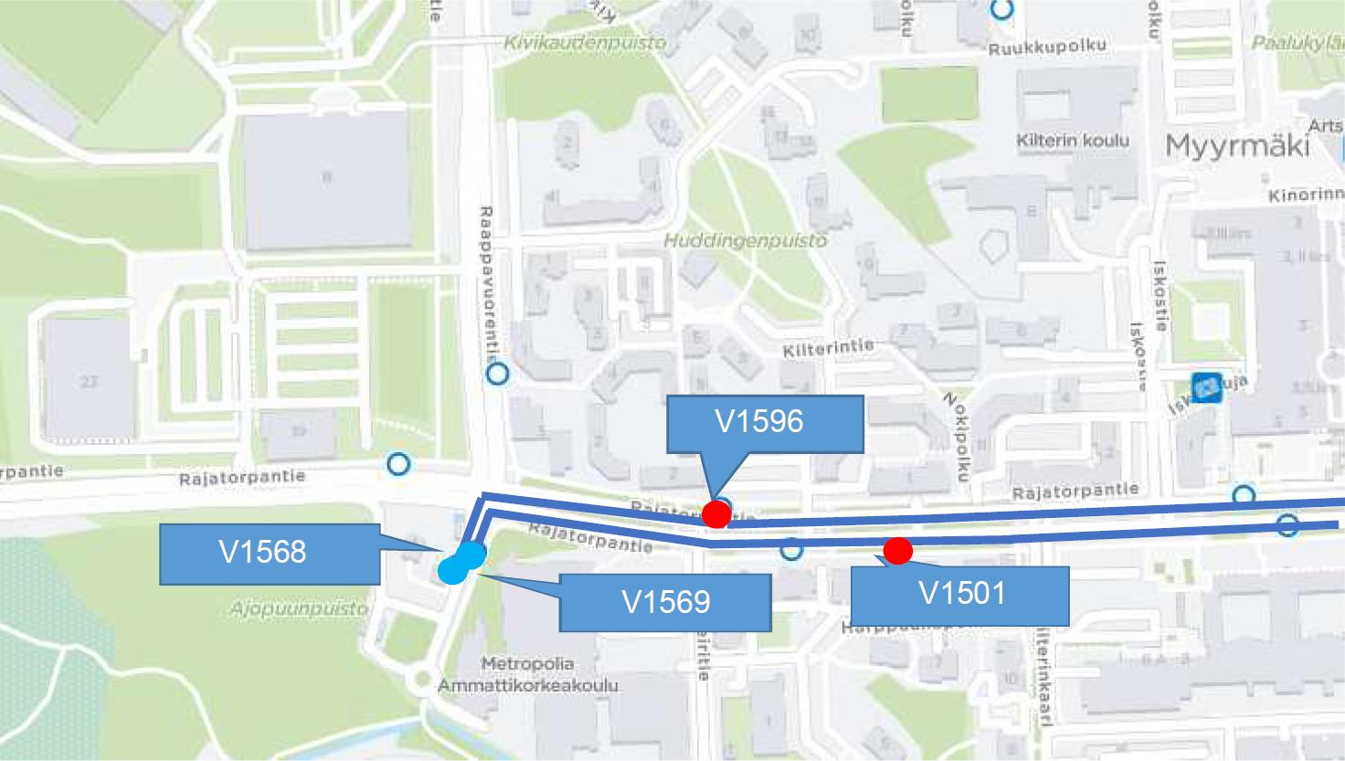 Linja 560 palaa Honkasuon pysäkeille 11.2. Päätepysäkkiä korvanneet pysäkit Leiritie (V1501 ja V1596) poistuvat linjan 560 käytöstä.