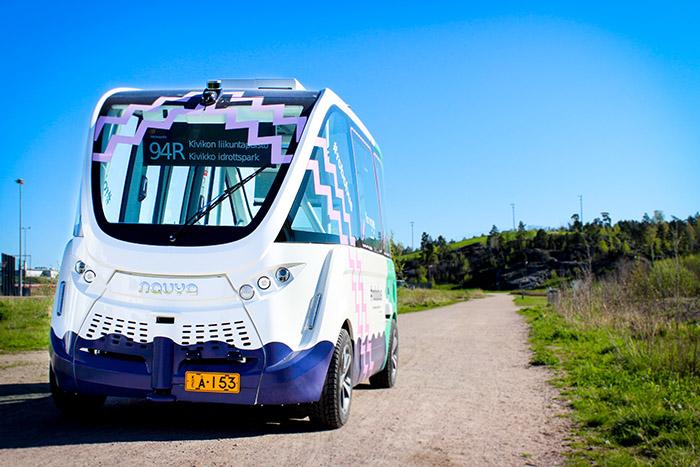 Helsinkis Shuttle-Service.