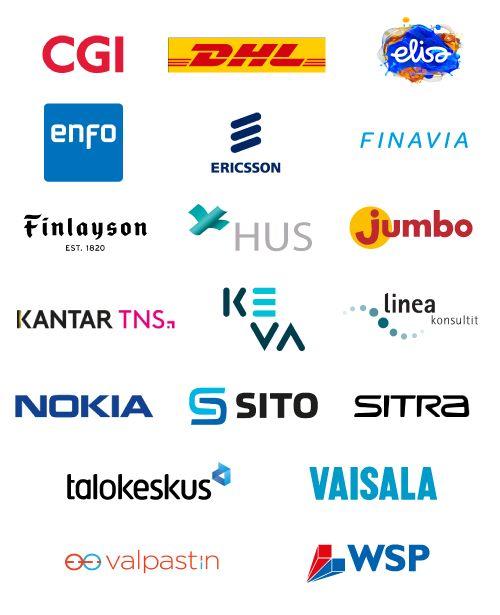 Sertifioitujen yritysten logot