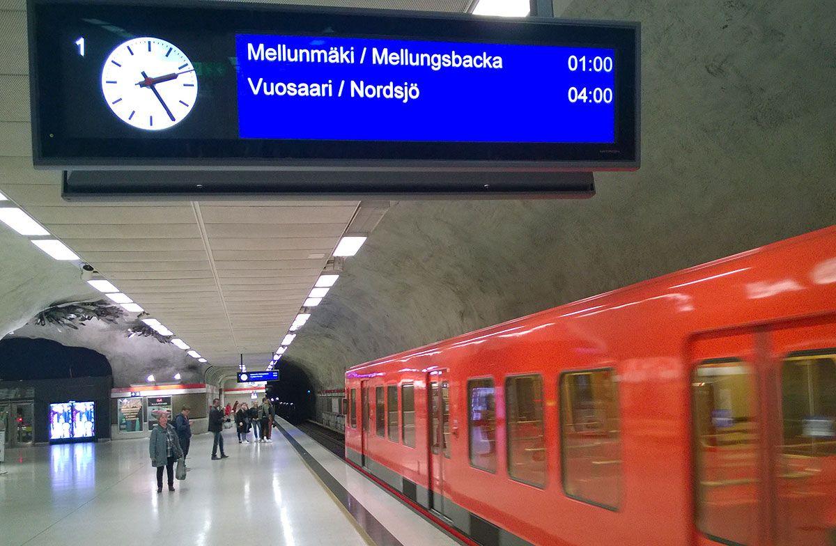 Metron laiturinäyttö