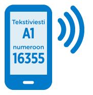 Tekstiviesti A1 numeroon 16355