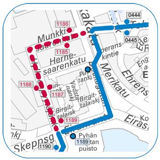 Linjalle 14 Telakkakadulle tilapäinen pysäkki 16.3.2015