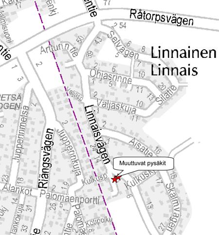 Vantaan bussin 30 pysäkkimuutos 4.11.2013