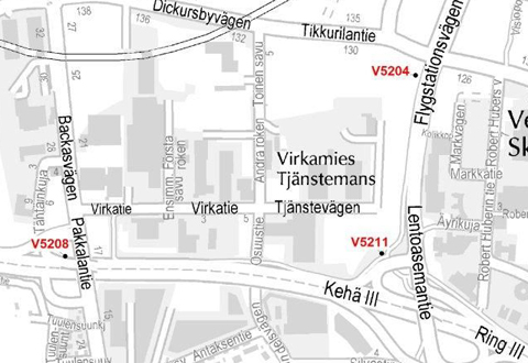 Vantaanportin pysäkki poistetaan 28.1.2014