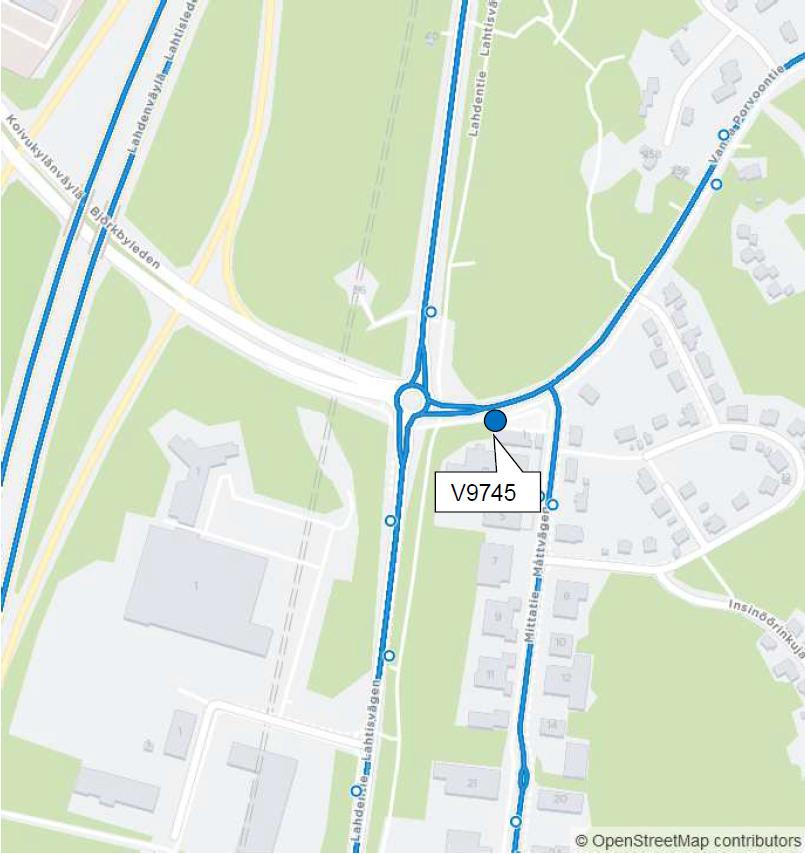 Vanhalla Porvoontiellä otetaan uusi Kuninkaanmäki niminen pysäkki (V9745) käyttöön maanantaina 12.11