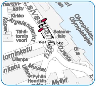 Olympiaterminaali-nimiset pysäkit omille paikoilleen 10.11.2014