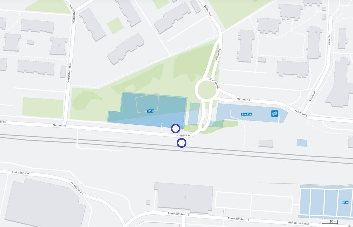 Veturitallintie Ki0541 / Ki0542 otetaan käyttöön Nummitiellä